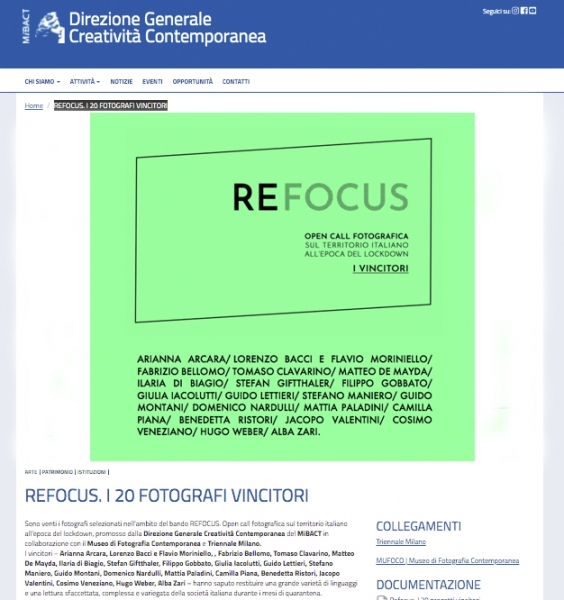 Selected - Refocus open call