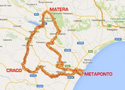 itinerario del percorso